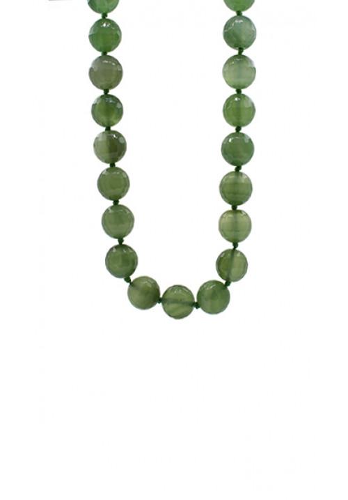 Collana pietre dure Agata verde