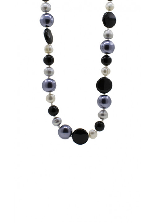Collana pietre dure Quarzi e Perle