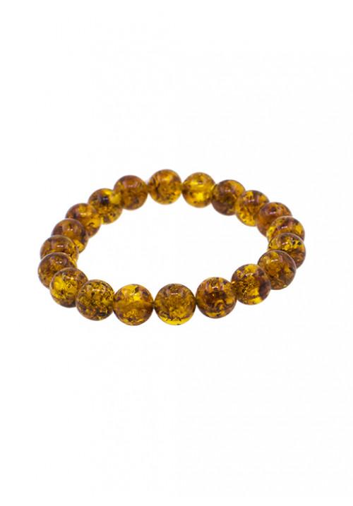 Bracciale in ambra baltica con inclusioni naturali