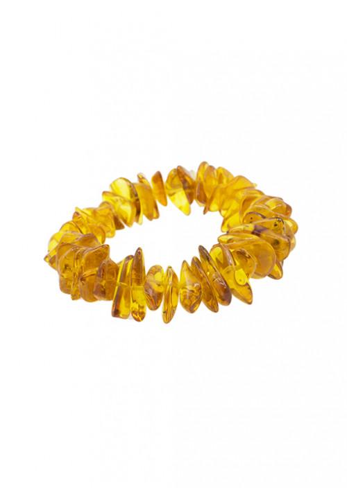 Bracciale in ambra baltica naturale forma irregolare