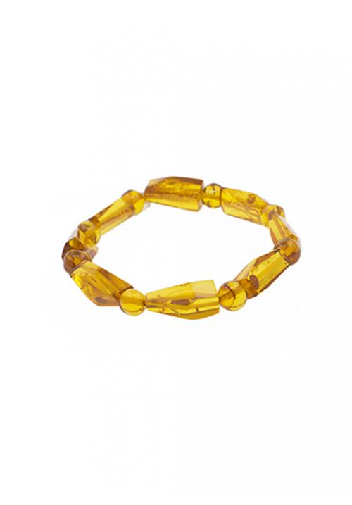 Bracciale in ambra baltica naturale - Miele