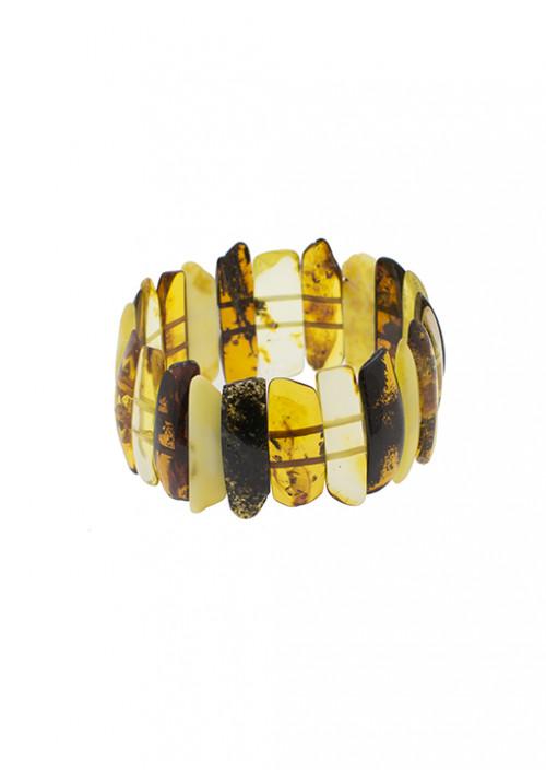 Bracciale in ambra baltica naturale alto