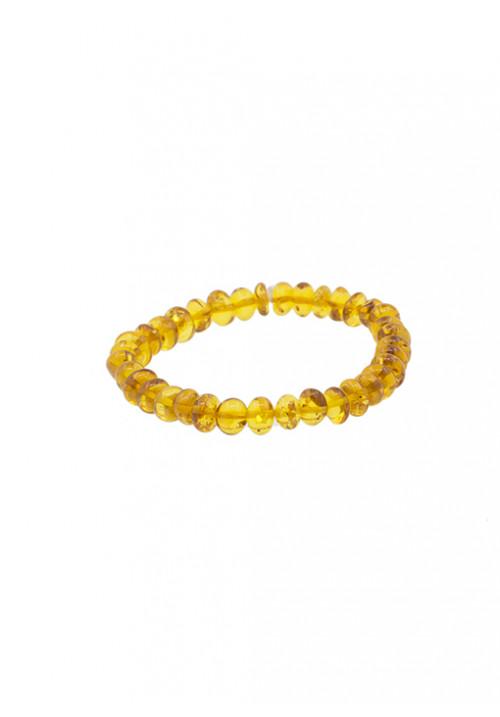 Bracciale ambra baltica naturale color miele