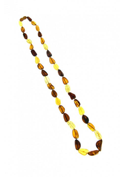 Collana lunga Ambra Baltica Multi color sassi irregolari - amcl24