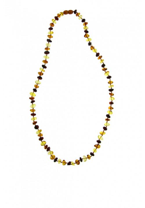 Collana Ambra Baltica Multi color sassi piccoli  - Girocollo - amcl26