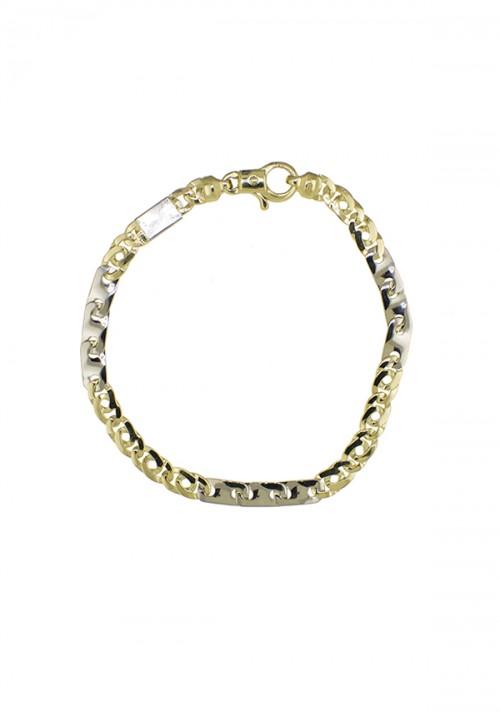 Bracciale Unisex Oro 18 Carati - Bicolore Oro giallo e Oro bianco