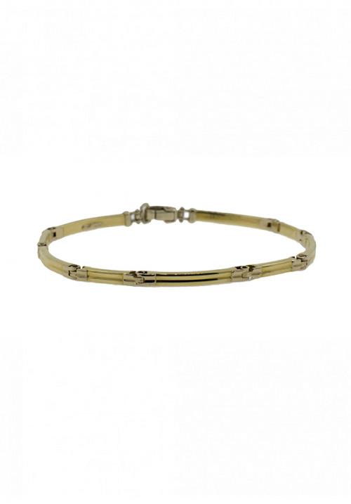 Bracciale Unisex Oro 18 Carati -  Maglie semirigide