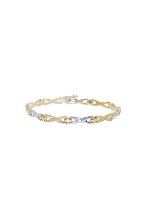Bracciale Donna Oro 18 Kt -  Bicolore Giallo e Bianco