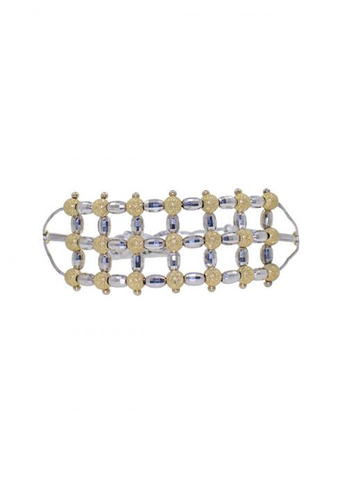 Bracciale Donna Oro 18 Kt -  Semi Rigido Oro giallo e Oro Bianco