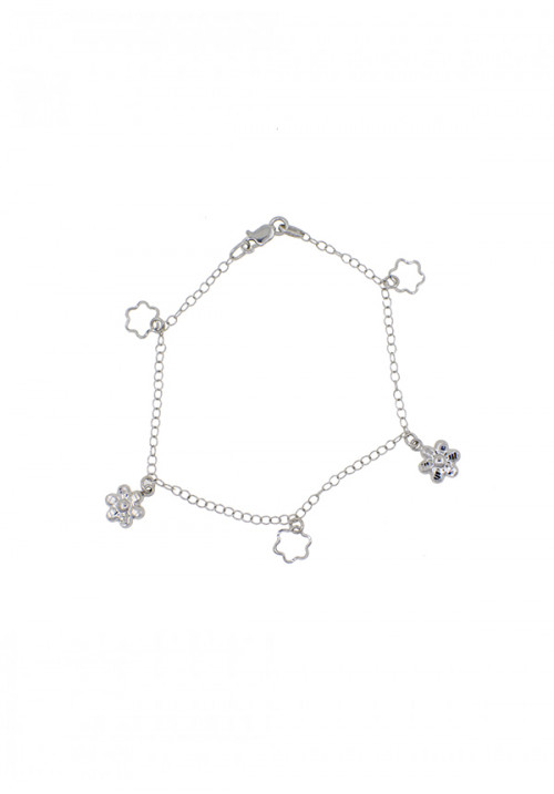 Bracciale Donna Oro 18 Kt - Charms e catena Oro Bianco