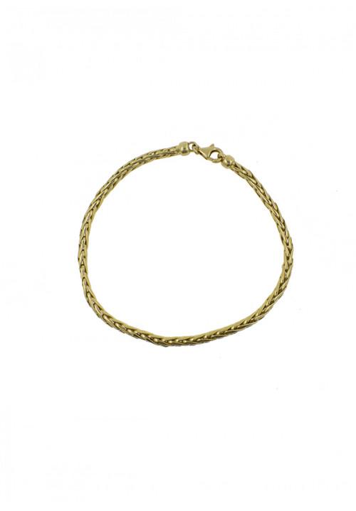 Bracciale Donna Oro 18 Kt - Maglia intrecciata