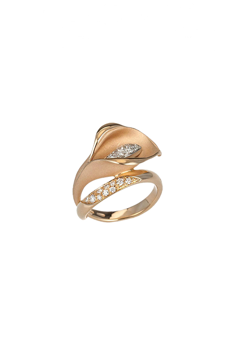 Annamaria Cammilli - Anello in Oro 18 Kt con Diamanti | Calla Collection
