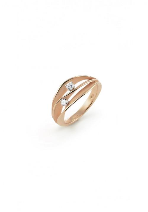 Annamaria Cammilli - Anello in Oro 18 Kt con Due Diamanti centrali | Dune Collection