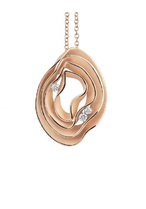 Annamaria Cammilli - Collana in Oro 18 Kt - Tre Diamanti | Dune