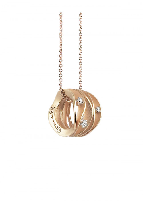Annamaria Cammilli - Collana  in Oro 18 Kt con tre diamanti | Dune Collection