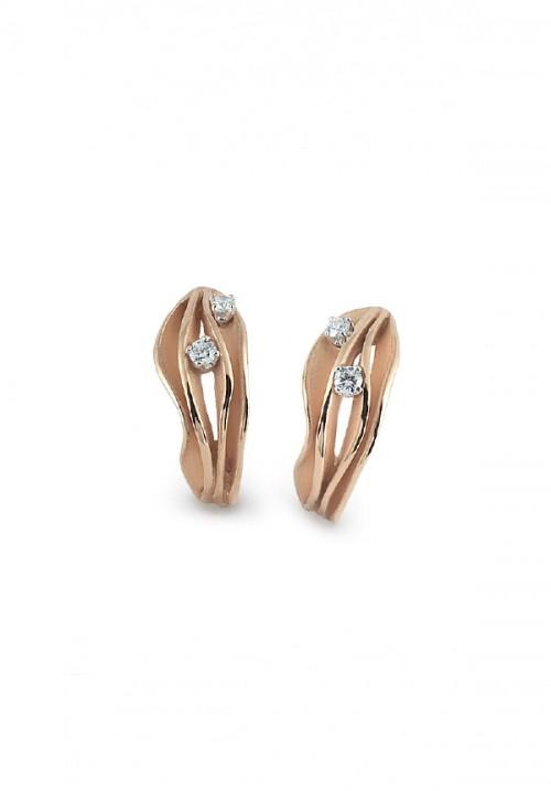 Annamaria Cammilli  - Orecchini in Oro 18 Kt e diamanti | Dune Collection