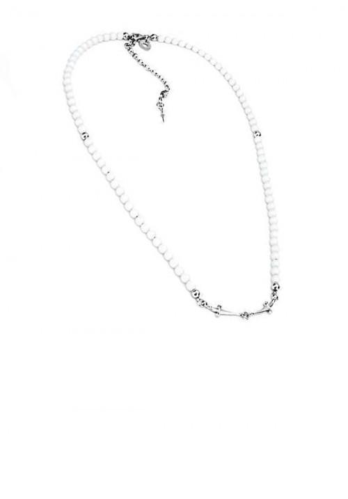 Collana Unisex Cesare Paciotti Jewels - Pietre Bianche con spadini