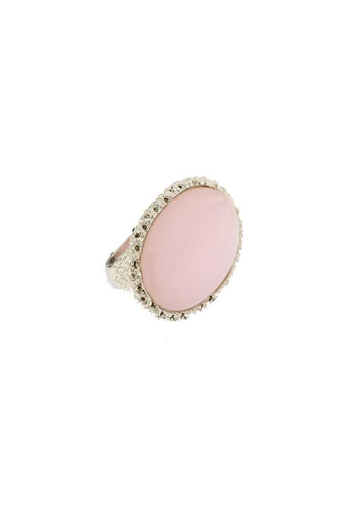 Anello Federica Rossi Jewels - Pietra rosa grande