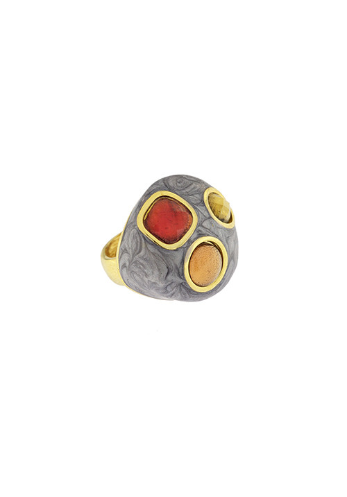 Anello Federica Rossi Jewels - Smalto e Cristalli