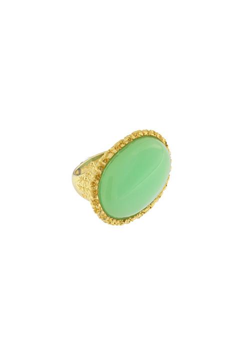 Anello Federica Rossi Jewels - Pietra verde grande