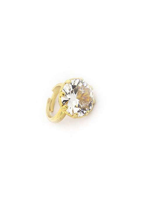 Anello Federica Rossi Jewels - Solitario Cristallo Grande