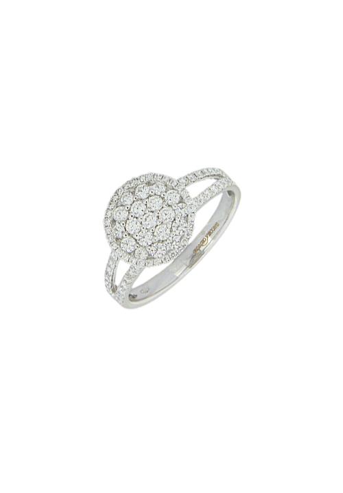 Giorgio Visconti - Anello oro bianco e diamanti a pavè tondo - carati 0.67