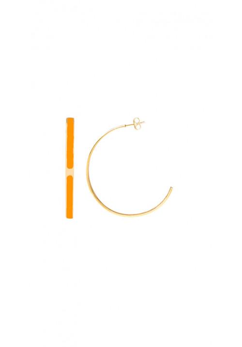 Orecchini Kouture semicerchio arancione