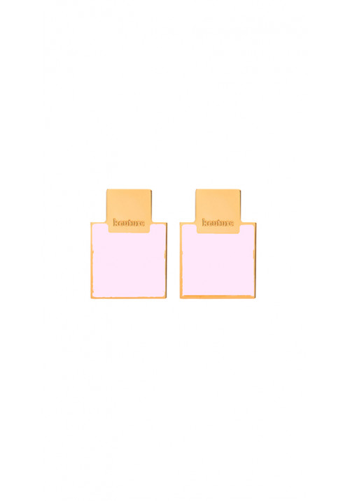 Orecchini Kouture quadrati rosa