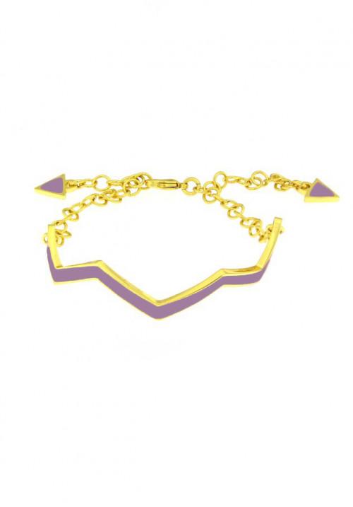 Bracciale Francesca Bianchi Design Collezione Kouture - Zig Zag - Indaco Prugna - brkou50