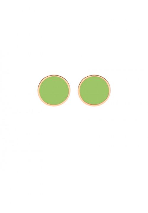 Orecchini Francesca Bianchi Design Collezione Kouture - Tondi - Verde - orkou23
