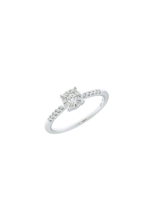 design senza tempo e13bd 0a80c Mirco Visconti Anello Solitario - Oro Bianco 18 Kt e Diamanti Carati 0.45