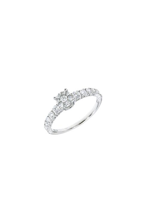 più economico cf3c8 220eb Mirco Visconti Anello Solitario - Oro Bianco 18 Kt e Diamanti Carati 0.56