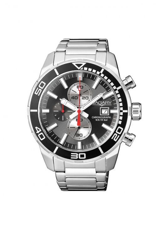 Orologio Uomo Vagary - Cronografo | Quadrante Grigio