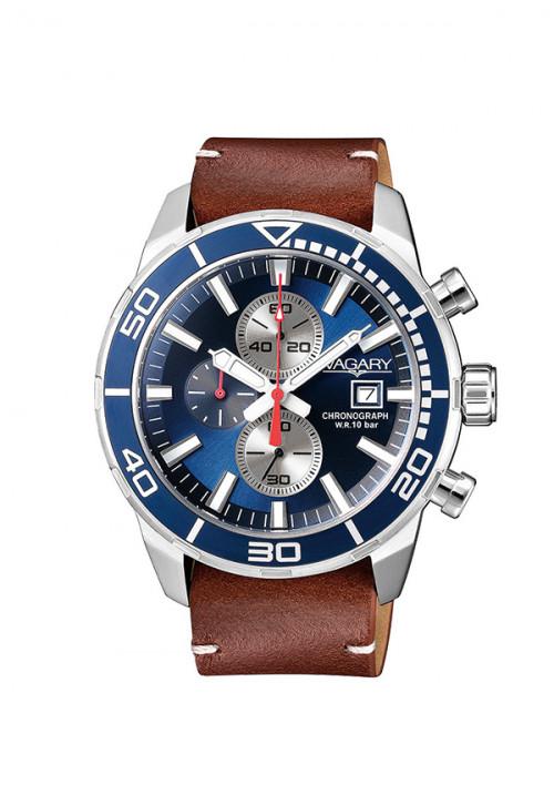 Orologio Uomo Vagary - Cronografo | Pelle