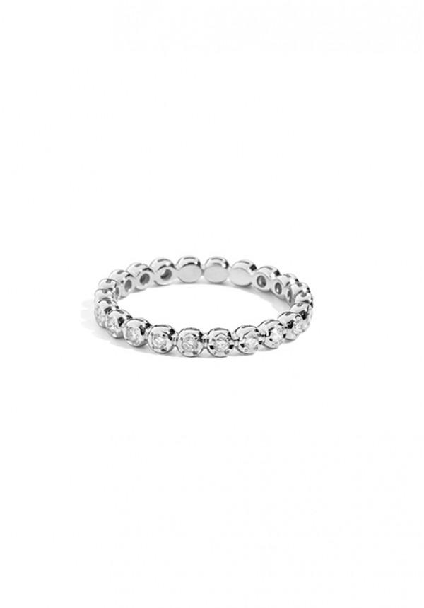 dbb00d308822a8 ReCarlo Anello Veretta Girodito - Oro bianco 18 Kt e Diamanti Carati Totali  0.30
