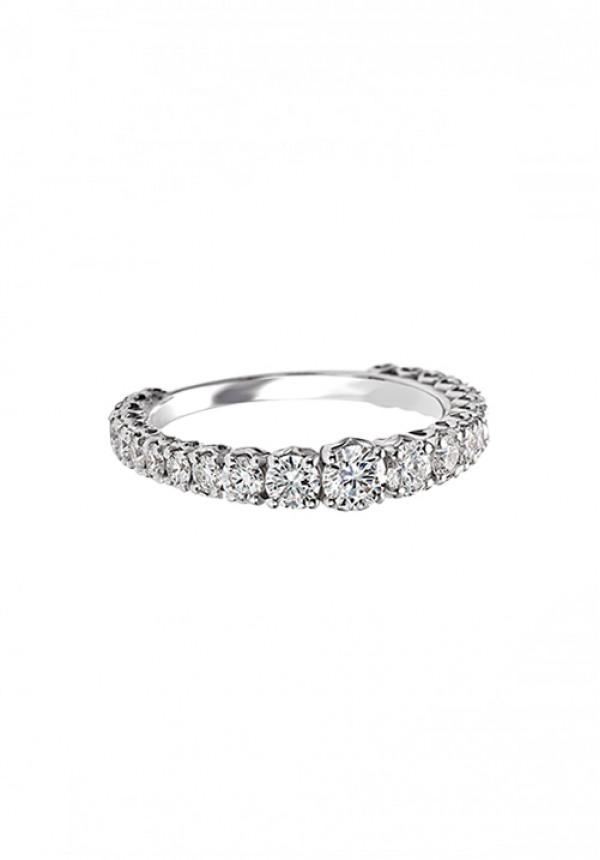 225cf1486865bb Recarlo Anello Veretta Anniversary - Oro Bianco 18 Kt e Diamanti Carati 1.32