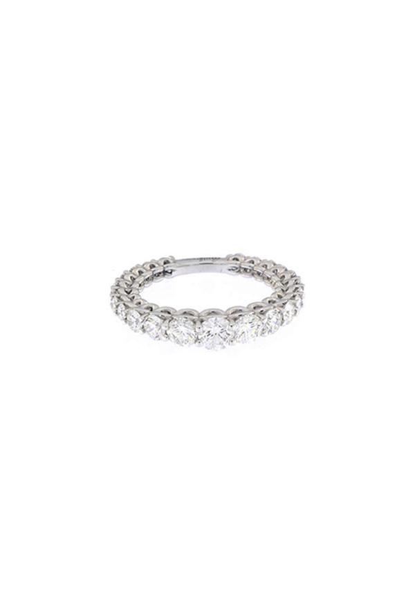 f2c464df9bc18d Recarlo Anello Veretta Scalare - Oro Bianco 18 Kt e Diamanti Carati 1.98