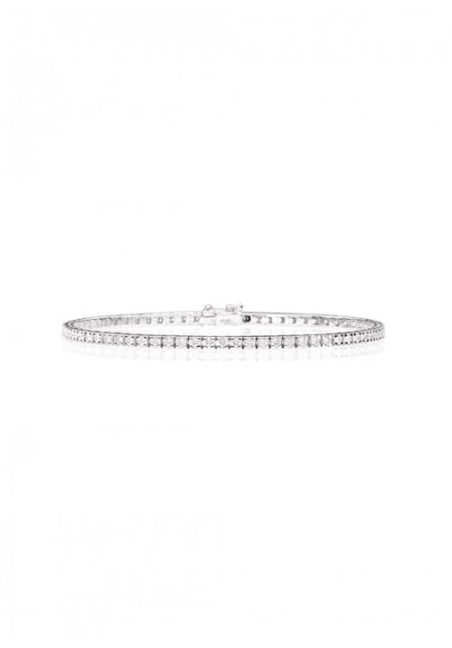 Bracciale Tennis ReCarlo - Oro bianco 18 Kt e Diamanti - 2.60 Carati