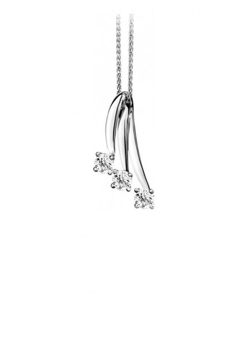 ReCarlo Collana Girocollo Punto Luce Eternity  - Oro bianco 18 Kt e diamanti Carati 0.45