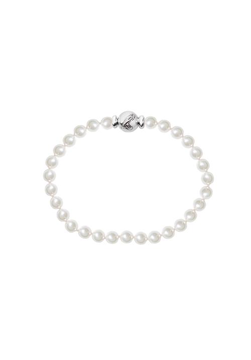 ReCarlo Bracciale Perle Giapponesi - Chiusura oro bianco 18 Kt | 5.5 - 6 mm