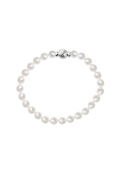 ReCarlo Bracciale Perle Giapponesi - Chiusura oro bianco 18 Kt | 6 - 6.5 mm