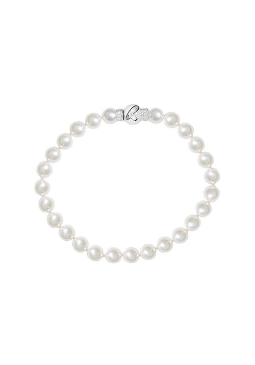 ReCarlo Bracciale Perle Giapponesi - Chiusura oro 18 kt e diamanti| 6 - 6.5 mm