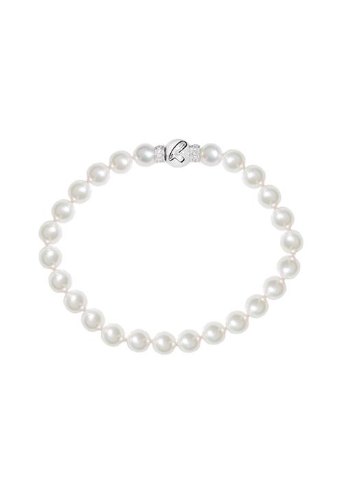 ReCarlo Bracciale Perle Giapponesi - Chiusura oro 18 kt e diamanti| 6.5 - 7 mm