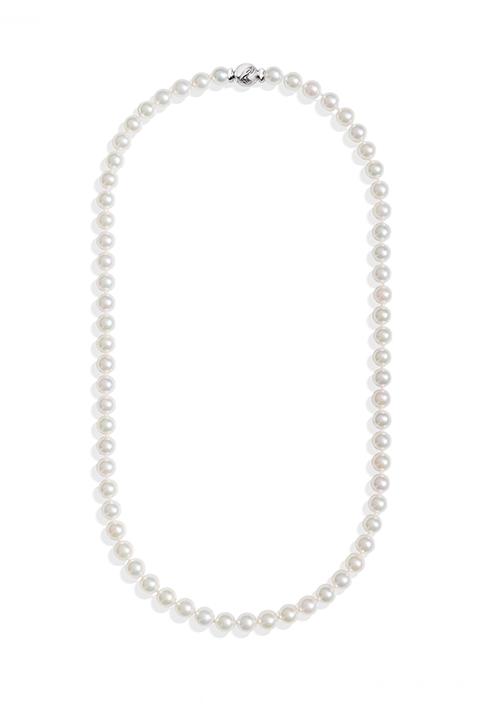 ReCarlo Collana Perle Giapponesi Akoya - Chiusura Oro bianco 18 Kt | 5.5 - 6 mm