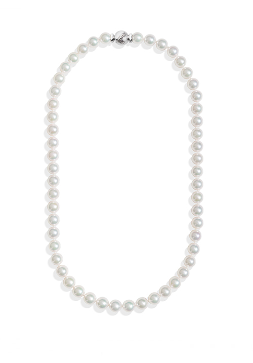 ReCarlo Collana Perle Giapponesi Akoya - Chiusura Oro bianco 18 Kt | 6.5 - 7 mm