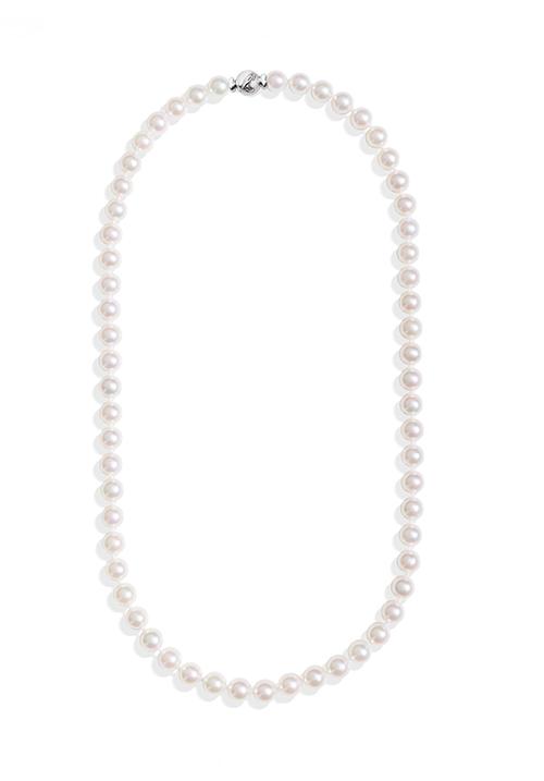 ReCarlo Collana Perle Giapponesi Akoya - Chiusura Oro bianco 18 Kt| 6 - 6.5 mm