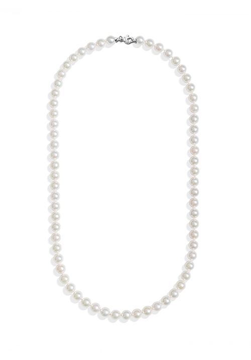 ReCarlo Collana Perle Giapponesi Akoya - Chiusura Oro bianco 18 Kt| 5.5 - 6 mm