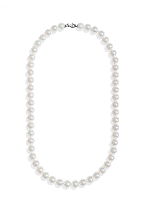 ReCarlo Collana Perle Giapponesi Akoya - Chiusura Oro bianco 18 Kt| 6.5 - 7 mm