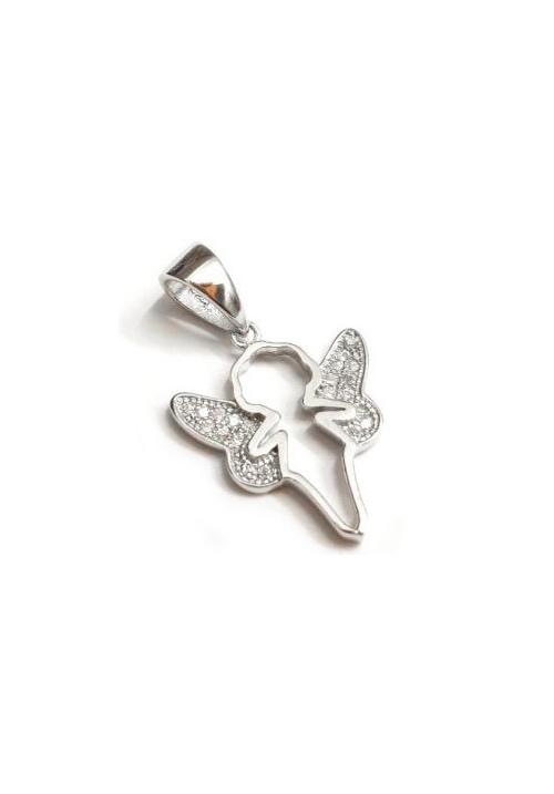 Ciondolo angelo in Argento 925 e Zirconi - 28286