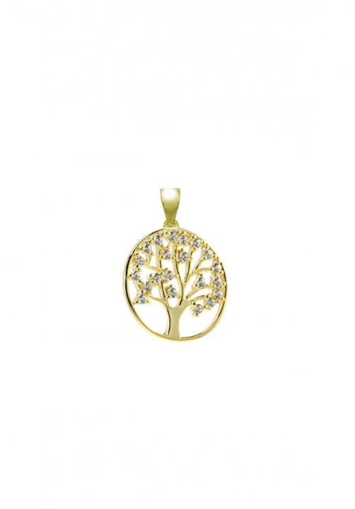 Ciondolo in Argento e Zirconi - Albero della Vita Gold